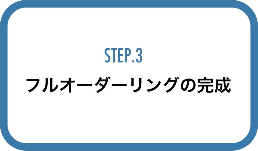STEP3フルオーダーリングの完成