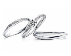 婚約指輪、結婚指輪ともすごく可愛くて気に入りました♪