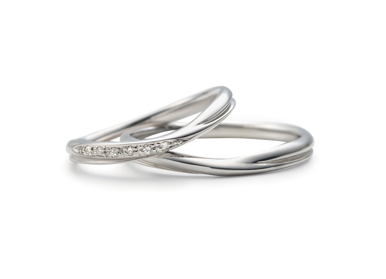 U字のデザインの指輪(Prairie ゆびわ言葉 ®: 共に歩む)