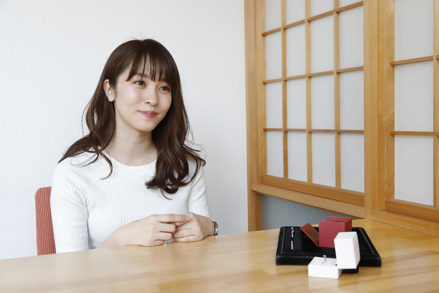 佐藤真瑚様 インタビュー風景