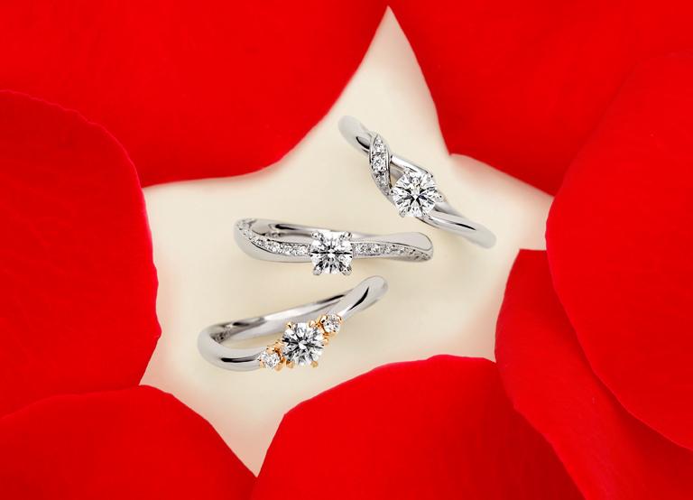 AFFLUX DIAMOND ®が留まった指輪