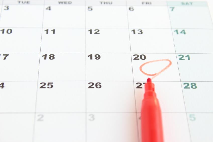 プロポーズの日が記されたカレンダー