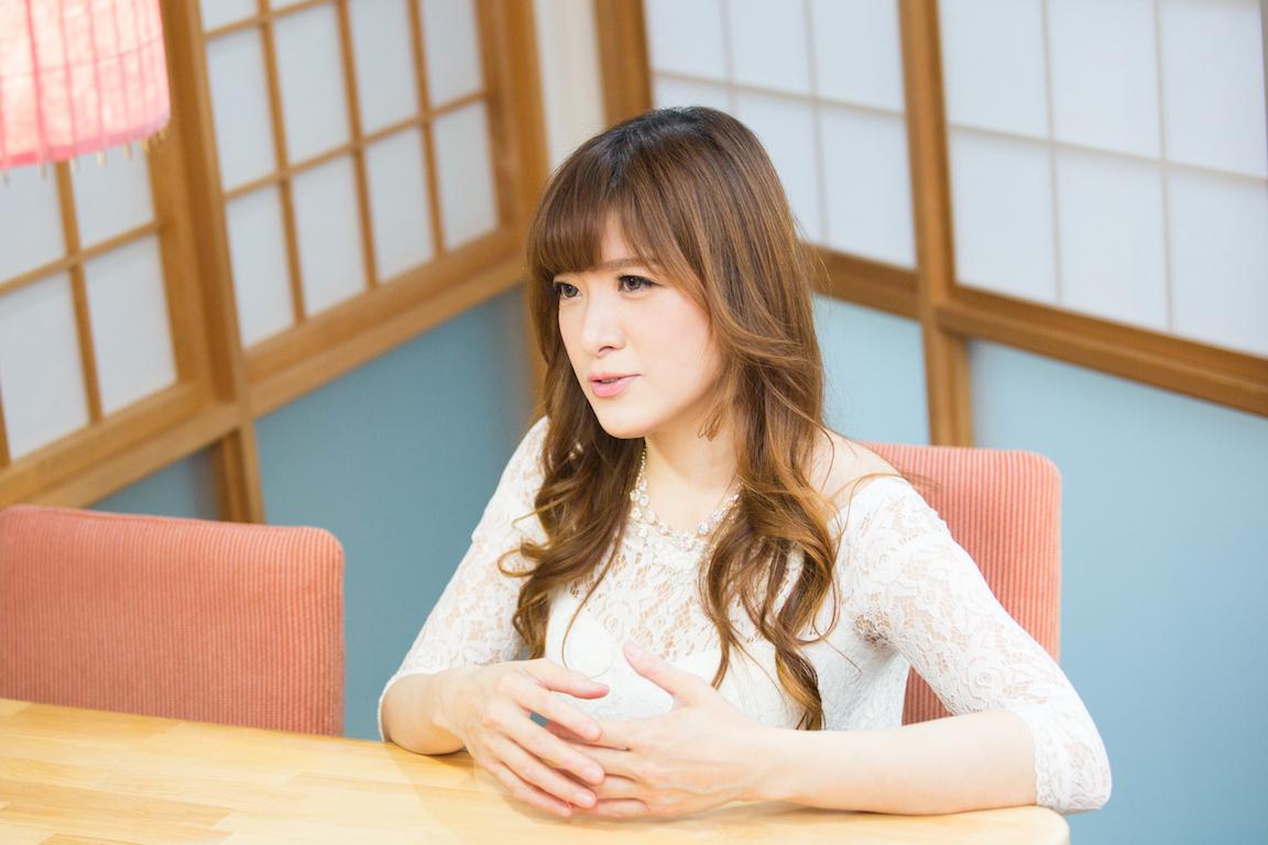 高木里代子さん インタビュー風景