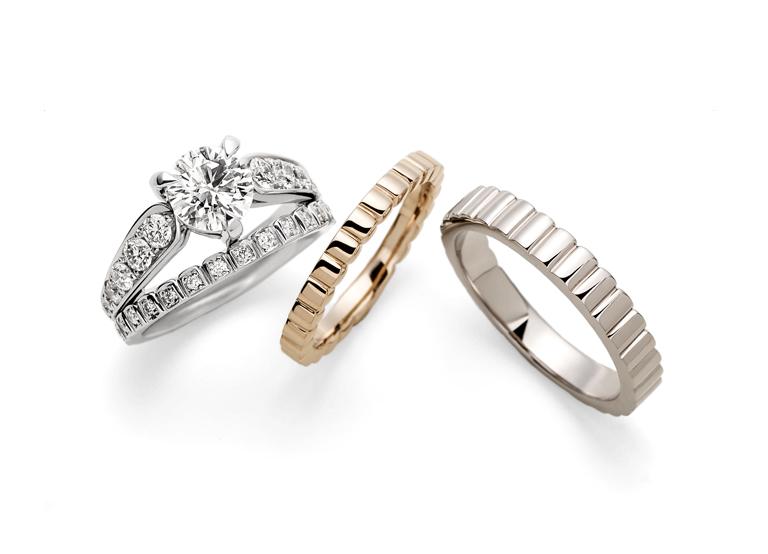 Kikka ゆびわ言葉®: わかち合う セミオーダーで色違いの指輪