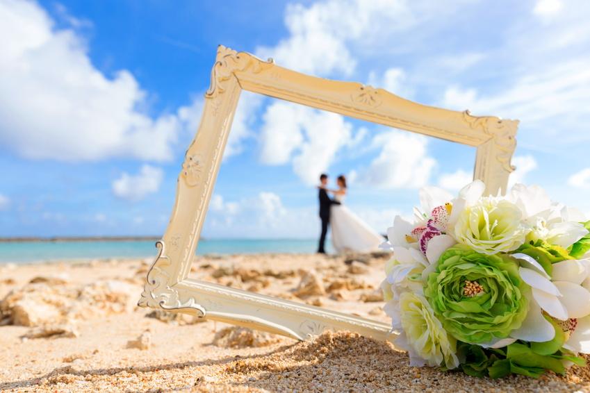 結婚式の前撮り(イメージ)
