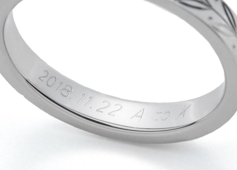 AFFLUXの結婚指輪と刻印