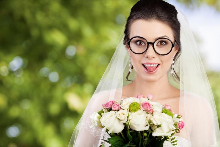 メガネを着けた花嫁