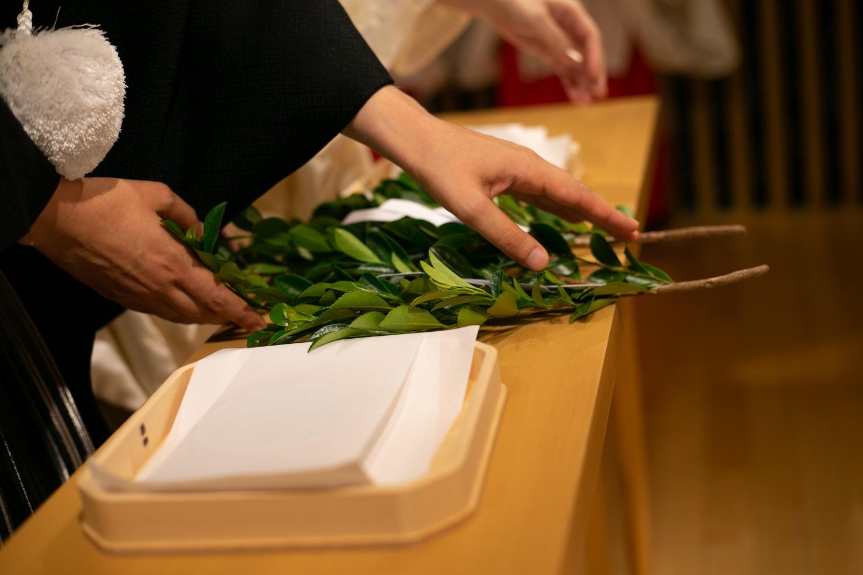 神前式の流れにある「玉串(たまくし)」を使った儀式について