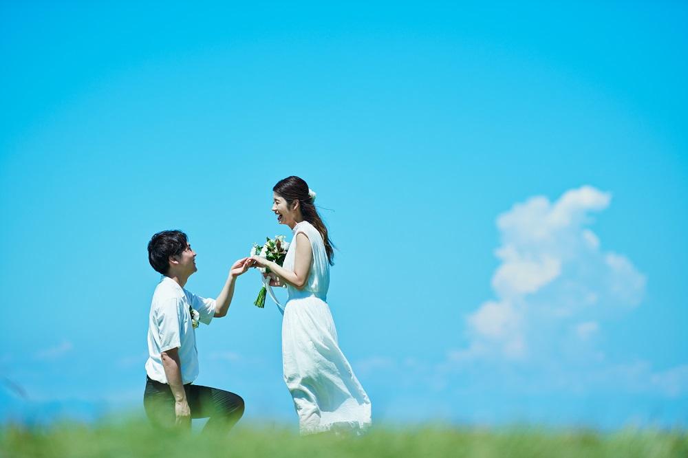 ウェディング カップル プロポーズ